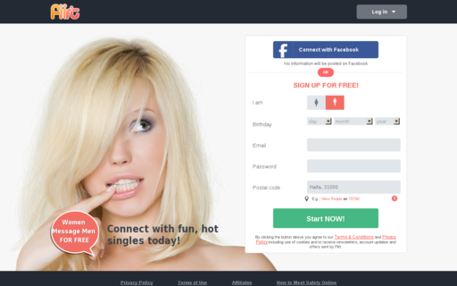 Access flirt.com using Hola Unblocker web proxy