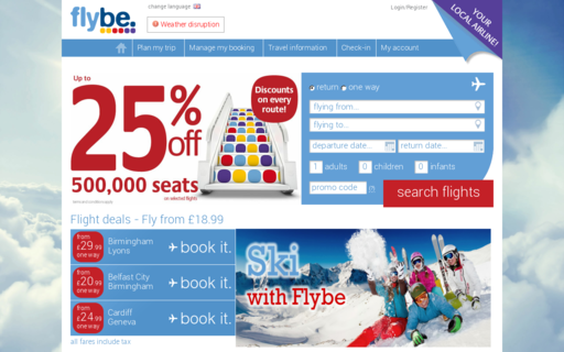 Access flybe.com using Hola Unblocker web proxy