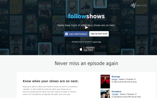Access followshows.com using Hola Unblocker web proxy