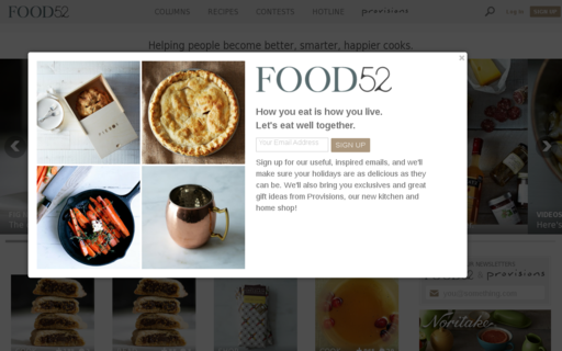 Access food52.com using Hola Unblocker web proxy