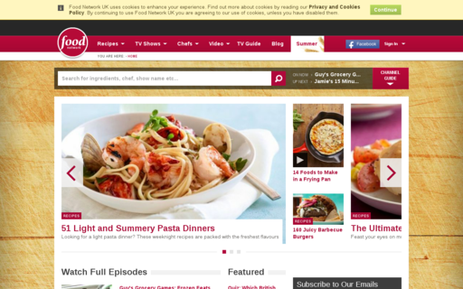 Access foodnetwork.co.uk using Hola Unblocker web proxy