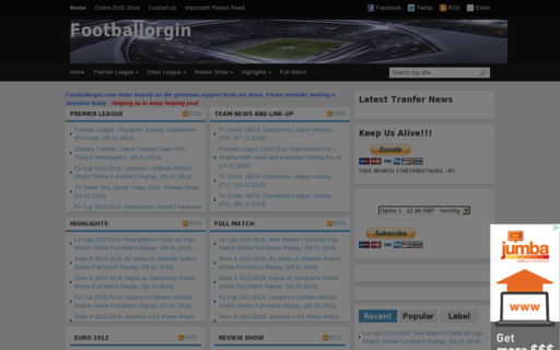 Access footballorgin.com using Hola Unblocker web proxy