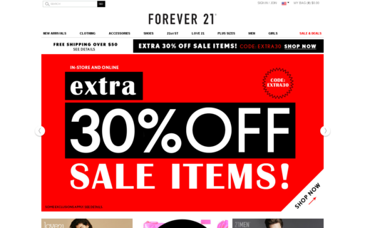 Access forever21.com using Hola Unblocker web proxy