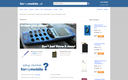 Access formymobile.co.uk using Hola Unblocker web proxy