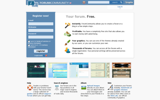 Access forumcommunity.net using Hola Unblocker web proxy