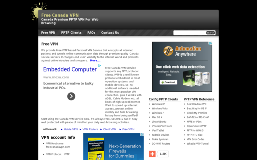 Access freecanadavpn.com using Hola Unblocker web proxy