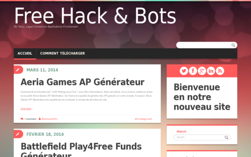 Access freehackandbots.fr using Hola Unblocker web proxy