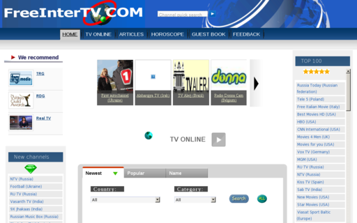 Access freeintertv.com using Hola Unblocker web proxy