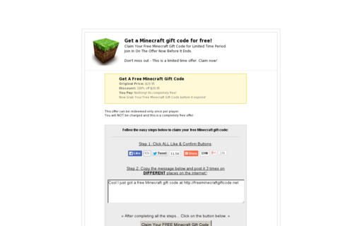 Access freeminecraftgiftcode.net using Hola Unblocker web proxy