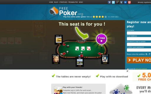 Access freepoker.org using Hola Unblocker web proxy