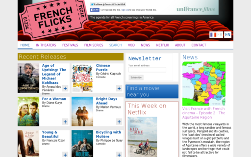 Access frenchflicks.com using Hola Unblocker web proxy