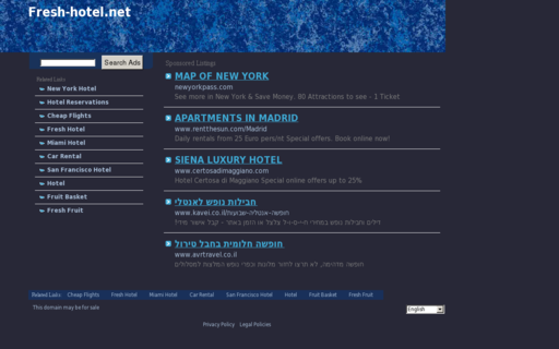 Access fresh-hotel.net using Hola Unblocker web proxy