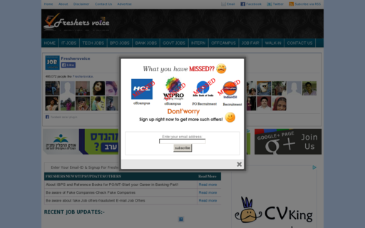 Access freshersvoice.com using Hola Unblocker web proxy