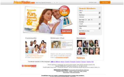 Access friendfinder.com using Hola Unblocker web proxy