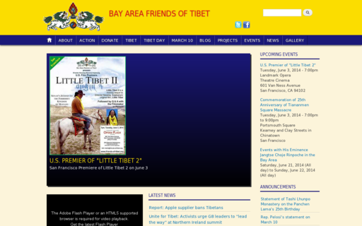 Access friends-of-tibet.org using Hola Unblocker web proxy