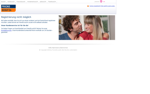 Access friendscout24.de using Hola Unblocker web proxy