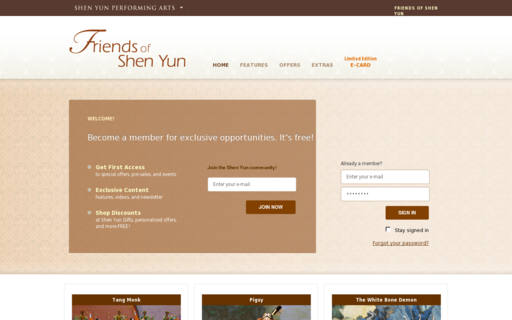 Access friendsofshenyun.org using Hola Unblocker web proxy