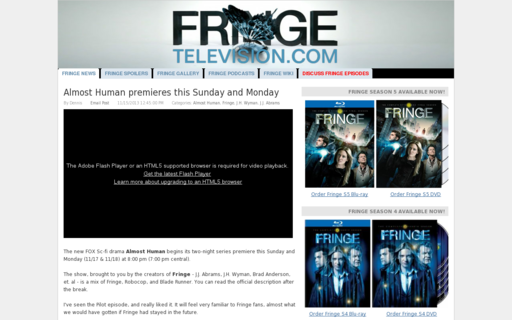 Access fringetelevision.com using Hola Unblocker web proxy