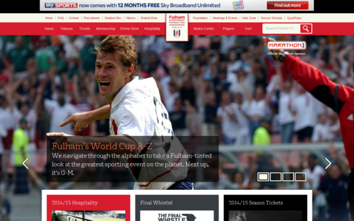 Access fulhamfc.com using Hola Unblocker web proxy