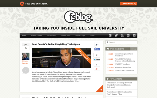 Access fullsailblog.com using Hola Unblocker web proxy