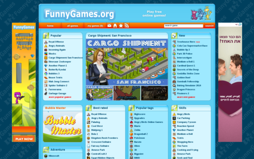 Access funnygames.org using Hola Unblocker web proxy