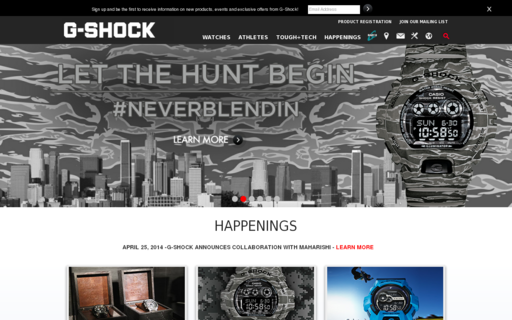 Access g-shock.com using Hola Unblocker web proxy