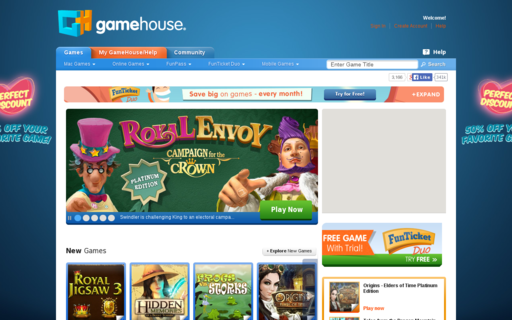 Access gamehouse.com using Hola Unblocker web proxy