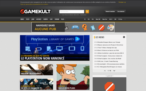 Access gamekult.com using Hola Unblocker web proxy