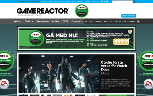 Access gamereactor.se using Hola Unblocker web proxy