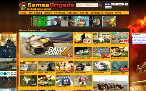 Access gamesbrigade.com using Hola Unblocker web proxy
