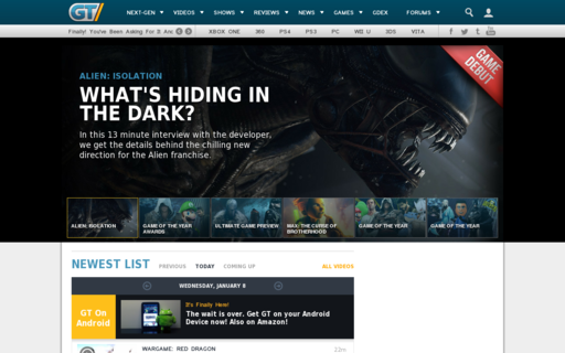 Access gametrailers.com using Hola Unblocker web proxy