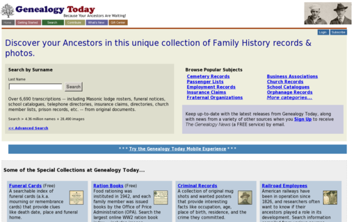 Access genealogytoday.com using Hola Unblocker web proxy