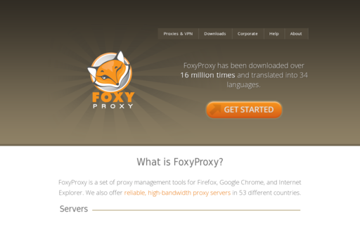 Access getfoxyproxy.com using Hola Unblocker web proxy
