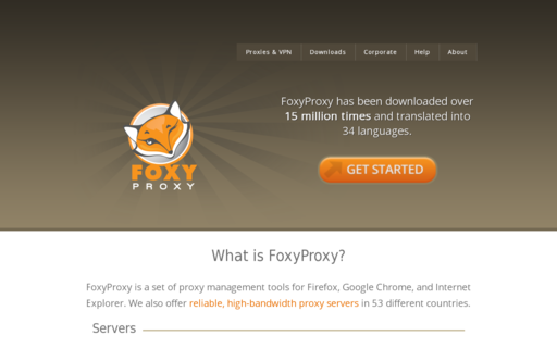 Access getfoxyproxy.org using Hola Unblocker web proxy