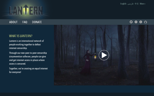 Access getlantern.org using Hola Unblocker web proxy