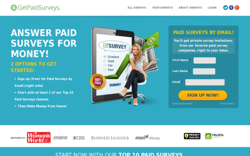 Access getpaidsurveys.com using Hola Unblocker web proxy