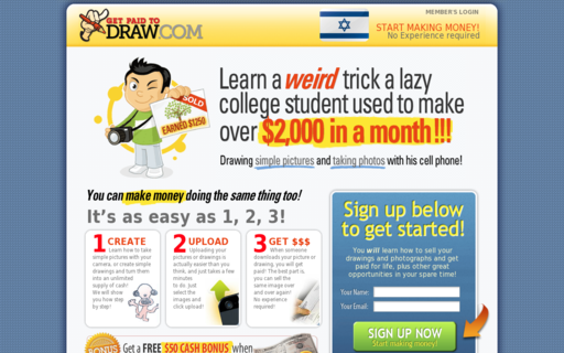 Access getpaidtodraw.com using Hola Unblocker web proxy