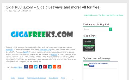 Access gigafreeks.com using Hola Unblocker web proxy