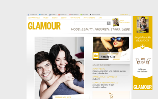 Access glamour.de using Hola Unblocker web proxy