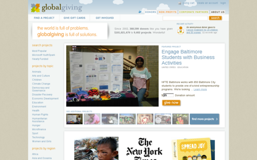 Access globalgiving.org using Hola Unblocker web proxy