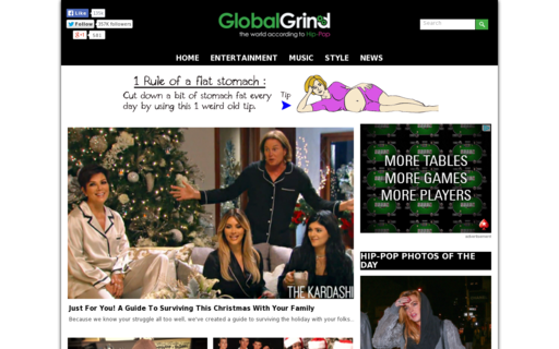 Access globalgrind.com using Hola Unblocker web proxy