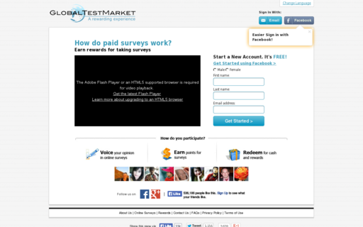Access globaltestmarket.com using Hola Unblocker web proxy