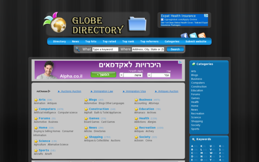 Access globedirectory.org using Hola Unblocker web proxy