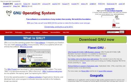 Access gnu.org using Hola Unblocker web proxy