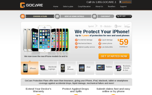 Access gocare.com using Hola Unblocker web proxy