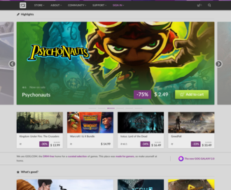 Access gog.com using Hola Unblocker web proxy