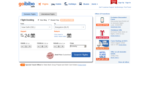 Access goibibo.com using Hola Unblocker web proxy