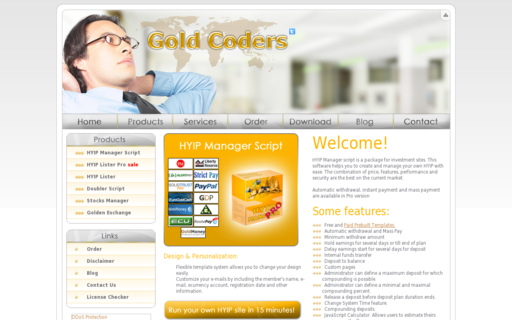 Access goldcoders.com using Hola Unblocker web proxy