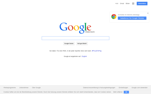 Access google.at using Hola Unblocker web proxy