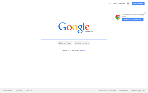Access google.co.cr using Hola Unblocker web proxy